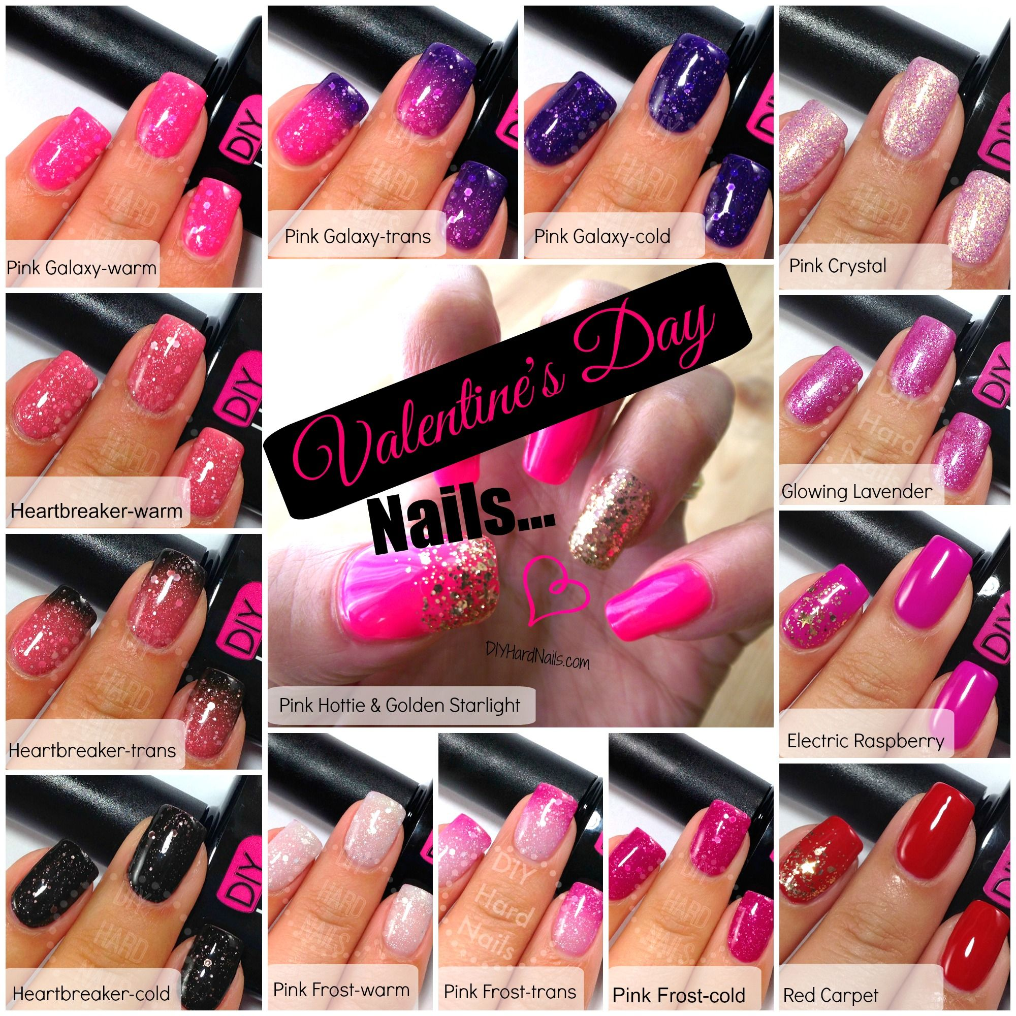 Best Valentine\'s Day Gel Polish Colors. Get them on amazon.com or 10 ...