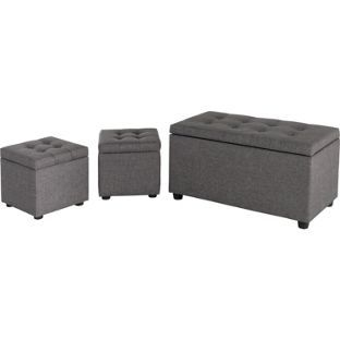 Buy Fabric Ottoman With 2 Small Stools Grey At Argos Co Uk