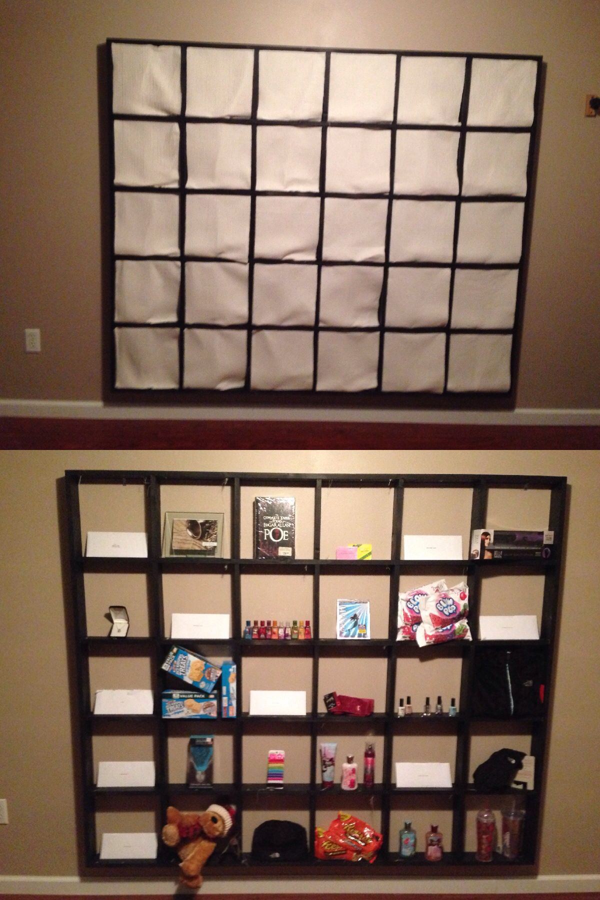 Diy Calendar For Him : My boyfriend created a huge wall calendar frame as