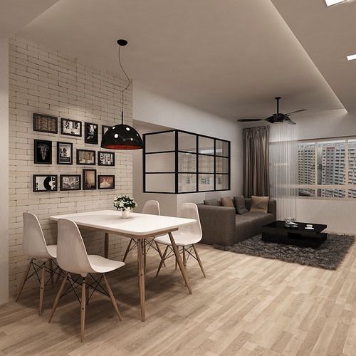 Open Concept Kitchen Living Room Floor Plans Tags 98: HDB 4-Room $30k @ Buangkok Green