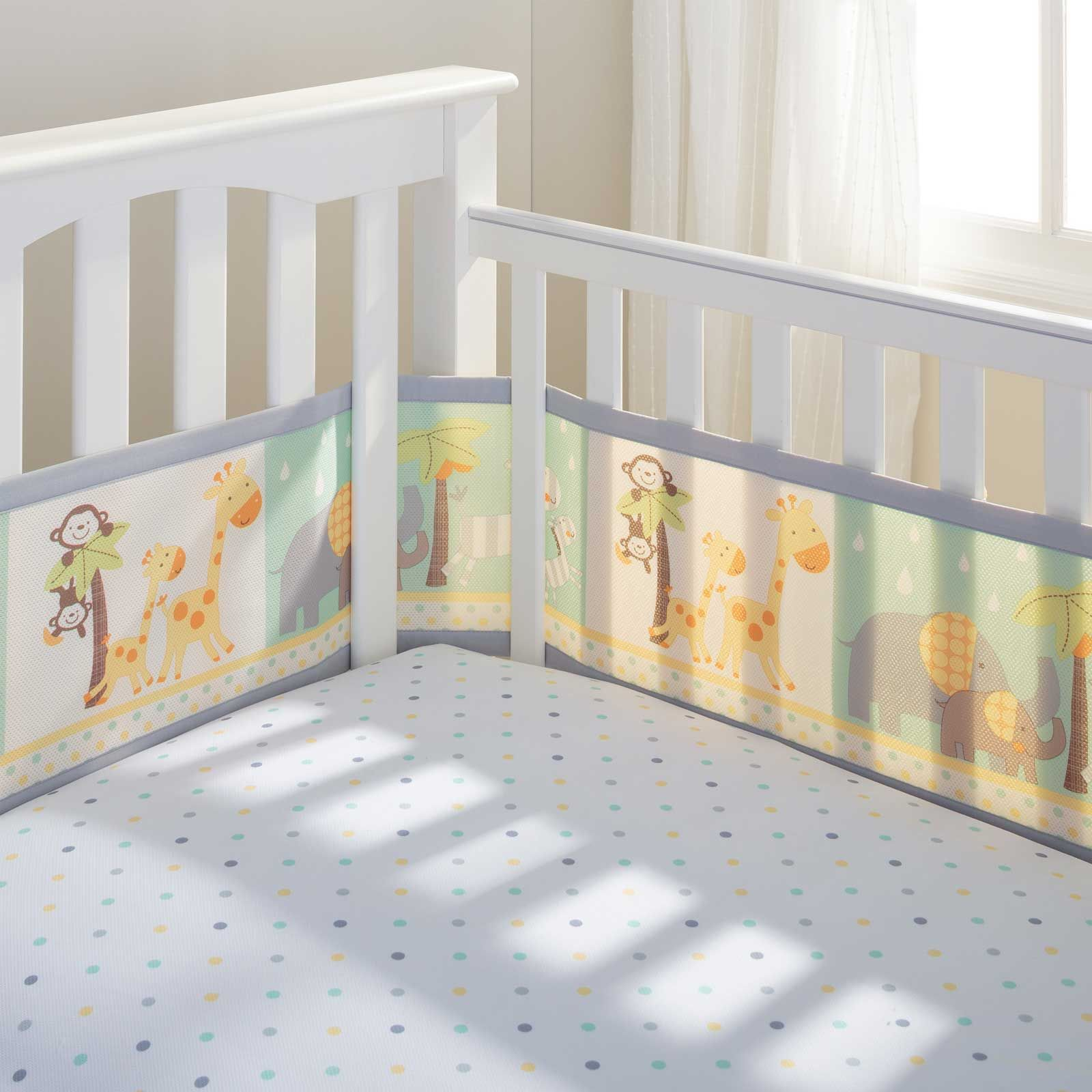 Classic Breathable® Gray Mesh Liner for Solid End Cribs
