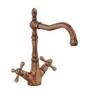 FREUER Bellissimo Collection: Classic Kitchen / Wet Bar Sink Faucet, Antique Copper - Amazon.com