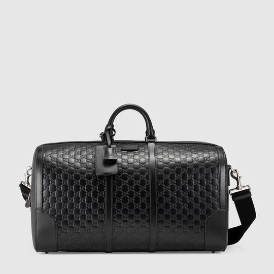 f430debba Gucci Signature leather duffle $ 2,850 Print Style 406381 CWCBN 1000 black  Gucci signature black Gucci signature