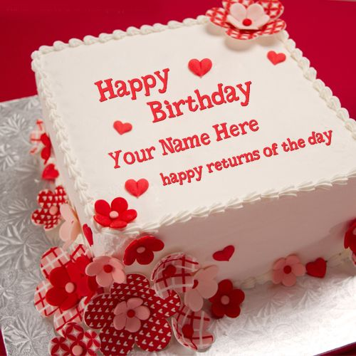 Write Name On Anniversary Cake Images : Cake Name Pictures on Pinterest Happy Birthday Greetings ...