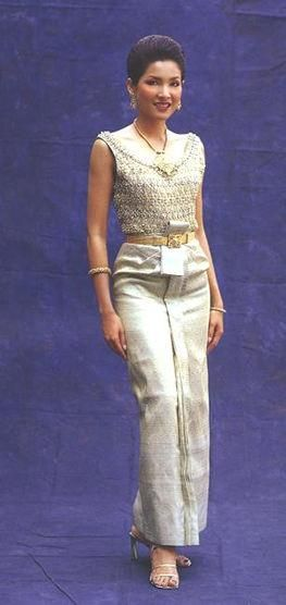 Traditional thai evening dress