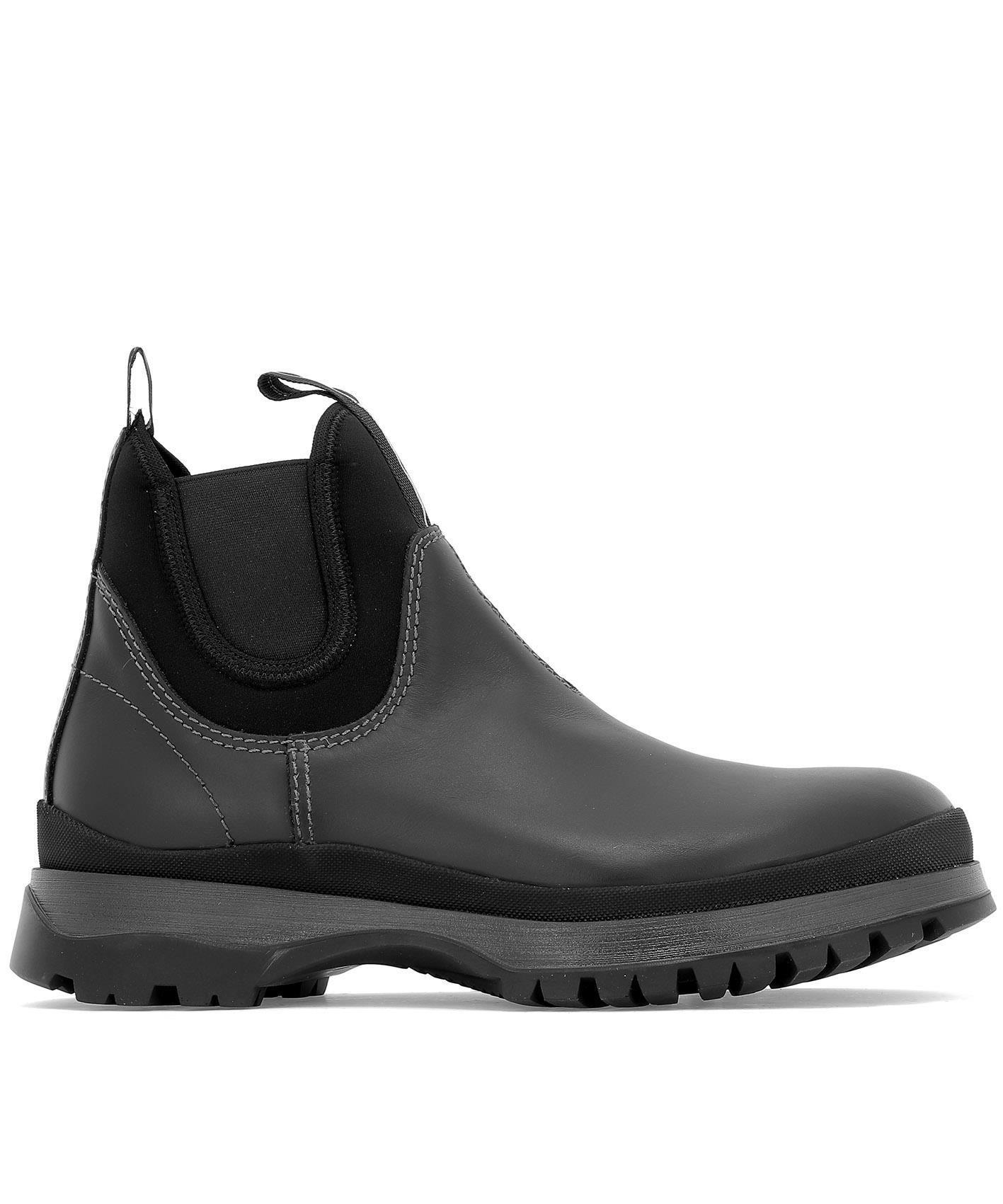 b31cd50d468 PRADA PRADA BRIXEN BLACK WATERPROOF ANKLE BOOTS. #prada #shoes ...