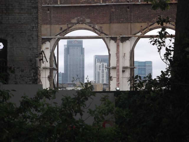 Industrial ruins in Deptford, London. Photo by M@.