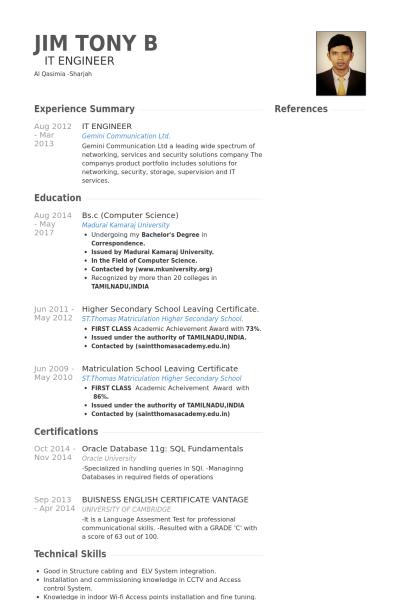 Computer Science Resume Example Engineering Resume Templates Engineering Resume Computer Science Engineering