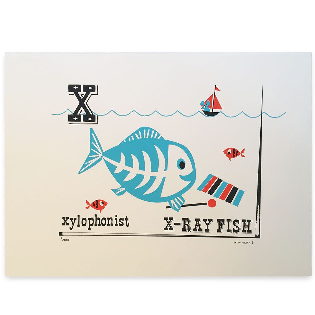 X ray poster design - Kay Vincent X Ray Fish Print These Original Limited Edition Silk Screen Prints Are From