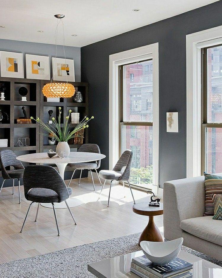 Muebles de comedor de colores oscuros - 50 ideas Muebles de