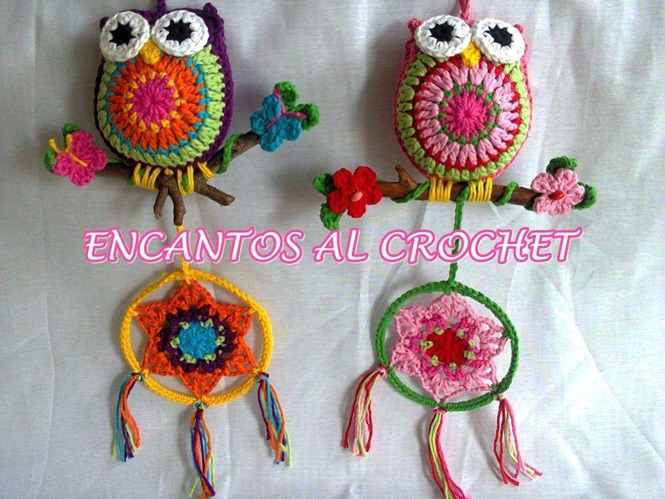 Colgante De Buho Con Ramita. Encantos Al Crochet - $ 130,00 en ...