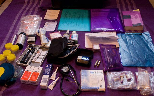 I work as a Community Matron, this is the contents of my work bag.     Viettel IDC tại địa chỉ Tòa nhà CIT, Ngõ 15 Duy Tân - Cầu Giấy - Hà Nội: