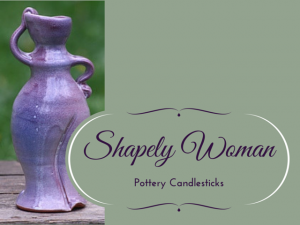Pottery Candlesticks