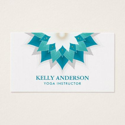 Yoga instructor teal lotus floral business card yoga health design yoga instructor teal lotus floral business card yoga health design namaste mind body spirit yoga pinterest yoga colourmoves