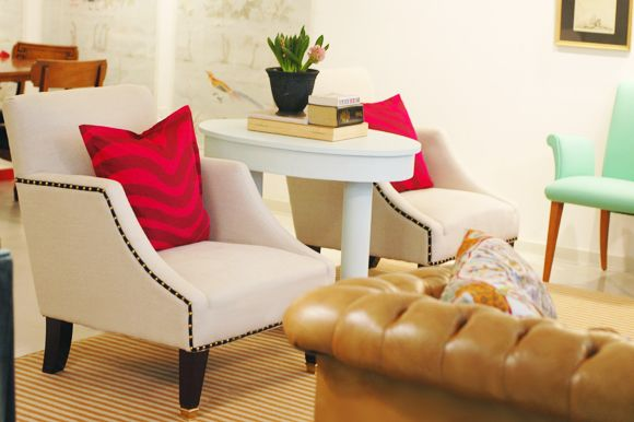 Great idea for cheap(er) chairs, changing nailhead and adding black - Cheap Black Furniture