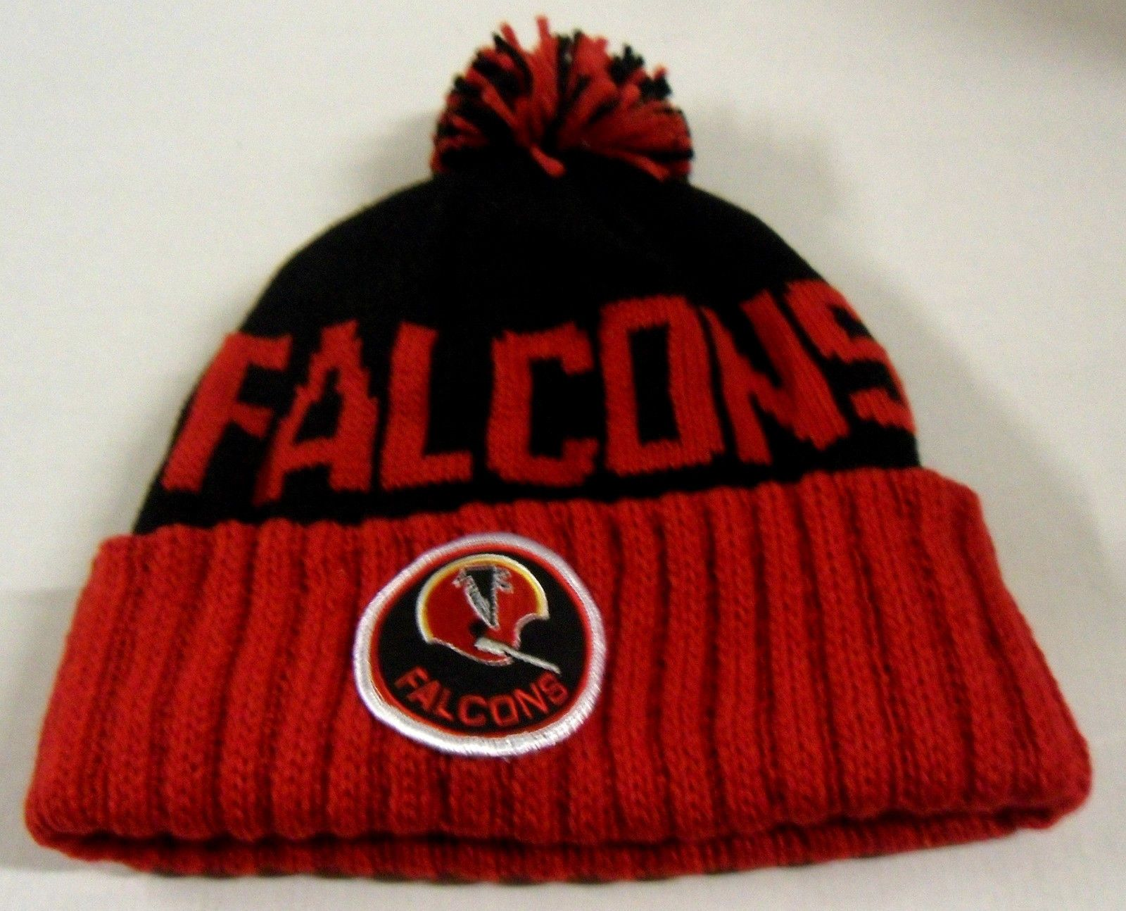 334bb0a6eeafac Nwt Nfl Atlanta Falcons Mitchell & Ness Throwback Pom Cuffed Knit Hat  Beanie Cap NWT NFL