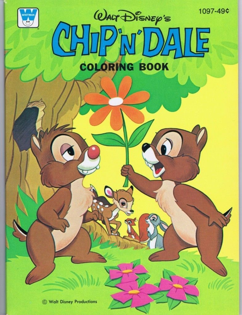 Chip \'N\' Dale Coloring Book, Whitman #1097, 1976 | Chip and Dale ...