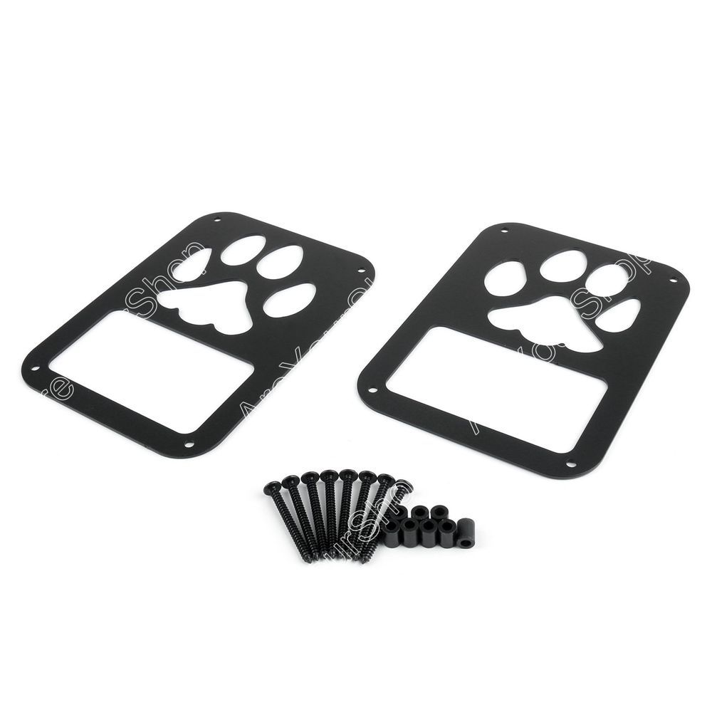 2x Rear Tail Light Covers Dog Paw Trim Guards For Jeep Wrangler Jk 07 16 Ebay Motors Parts Amp Access Dog Car Accessories Jeep Decals Jeep Lover