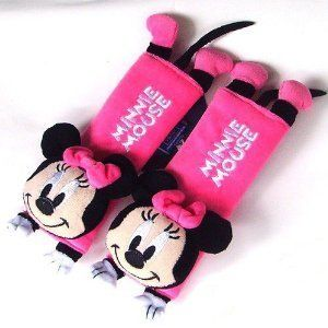 Mickey Mouse Minnie Mouse Car Seat Belt Cover Shoulder Cushion Pads