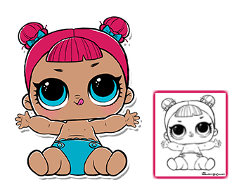 Lol Surprise Doll Coloring Pages Color Your Favorite Lol Surprise Doll Lol Dolls Doll Party Lil Sister