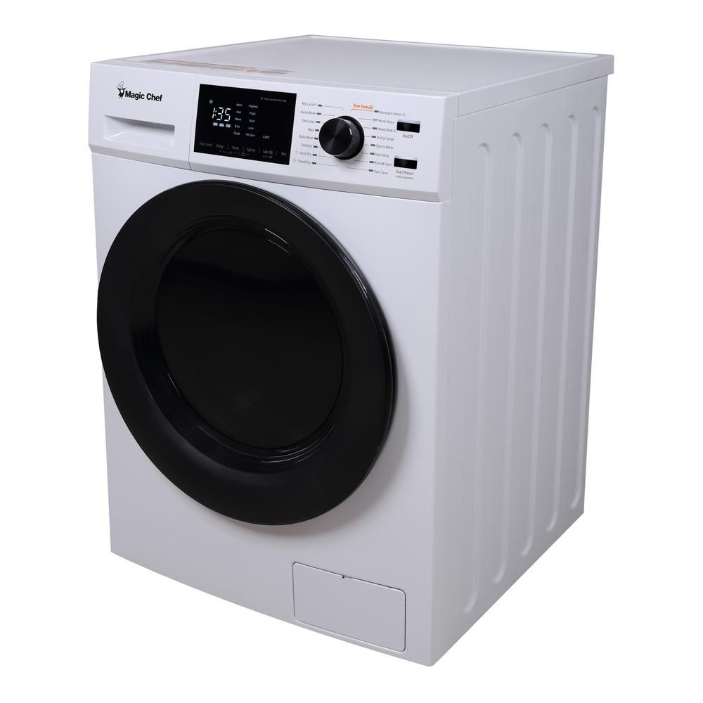 Magic Chef 2 7 Cu Ft All In One Washer And Ventless Dryer Combo In White Mcscwd27w5 The Home Depot Mini Washer And Dryer Ventless Dryer Washer Dryer Combo