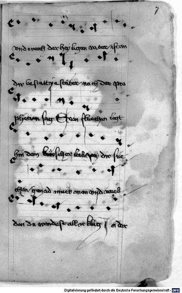 Mönch von Salzburg. Oswald von Wolkenstein: Geistliche Lieder mit Melodien Bayern/Österreich, erste Hälfte 15. Jh.: 3. Viertel 15. Jh. Cgm 715 Folio 19