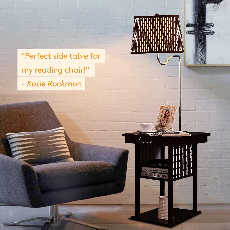 Brightech Madison LED Floor Lamp Swing Arm Lamp w/ Shade ...