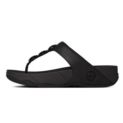 19bf55ce3 FitFlop Petra™ Leather All Black  summer  sandals  ss15 http   www ...