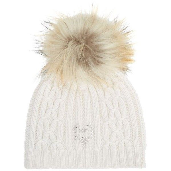 7d57dc48508dbd M. Miller Cashmere Pom Pom Beanie ($415) ❤ liked on Polyvore featuring  accessories, hats, beanies, deer hat, cashmere beanie, pom pom hat, beanie  cap and ...