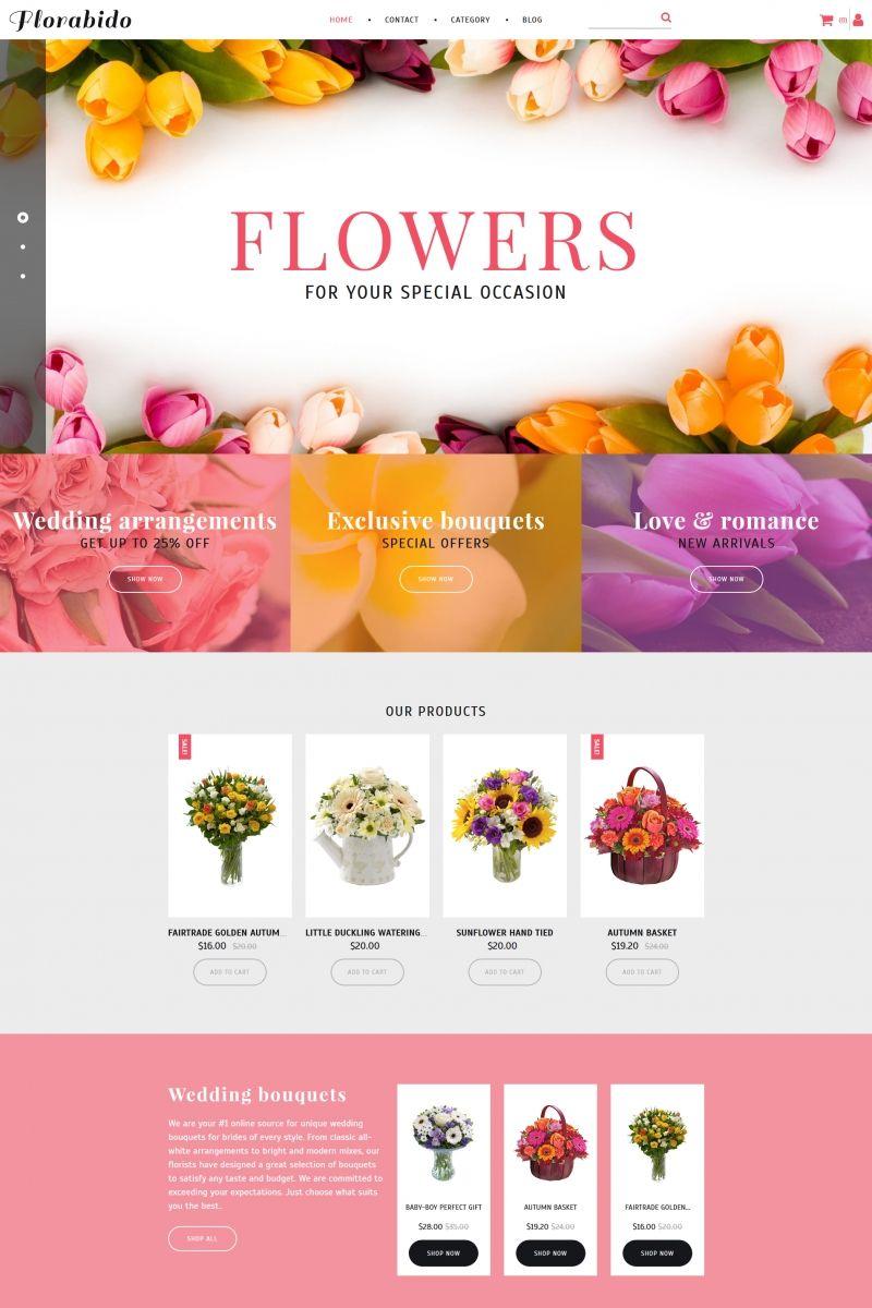 Bouquets & Floral Arrangement MotoCMS Ecommerce Template   Pinterest