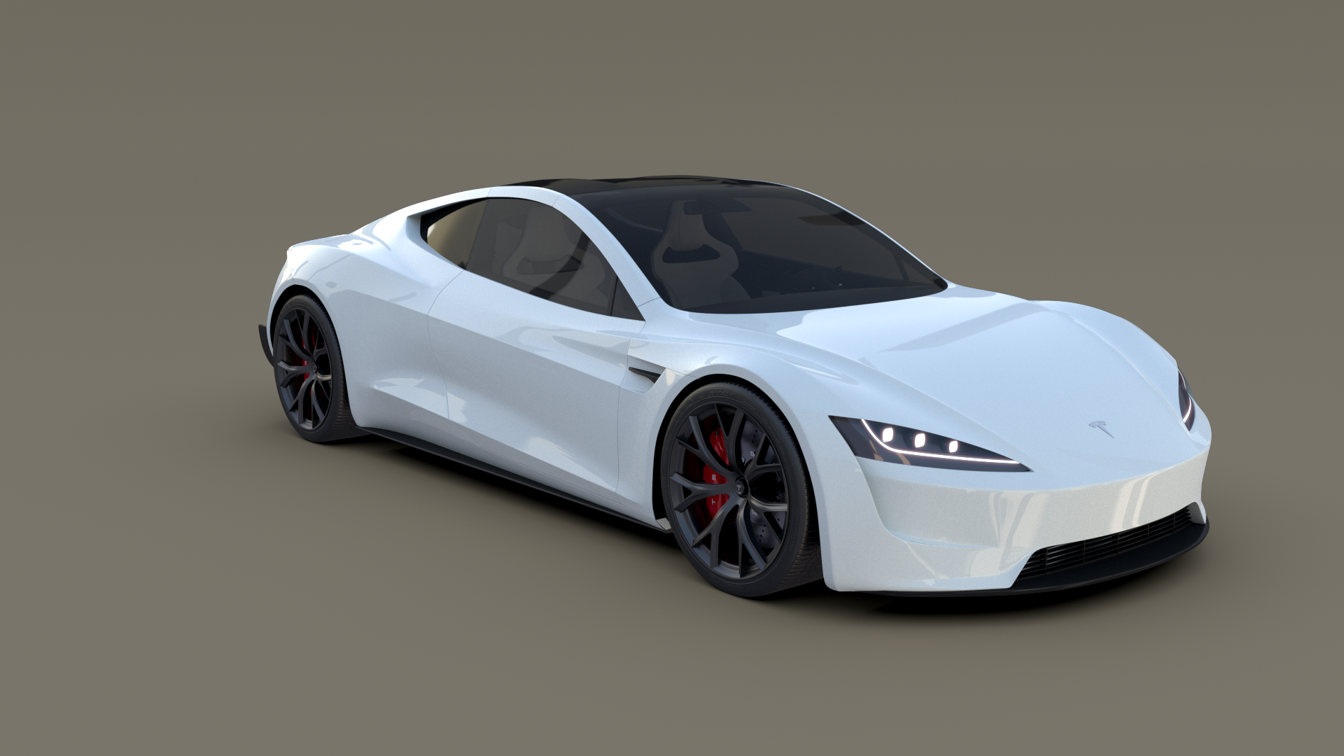 Tesla Roadster 2020 White With Interior And Chassis Tesla Roadster Tesla Roadsters
