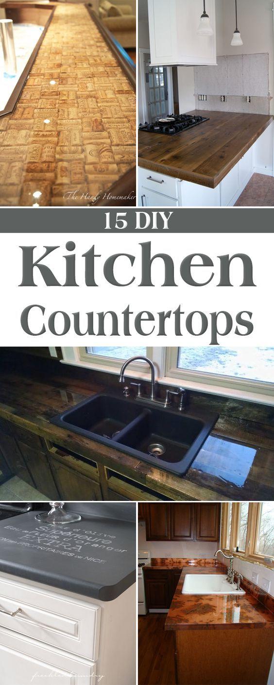 15 Amazing DIY Kitchen Countertop Ideas | Küche
