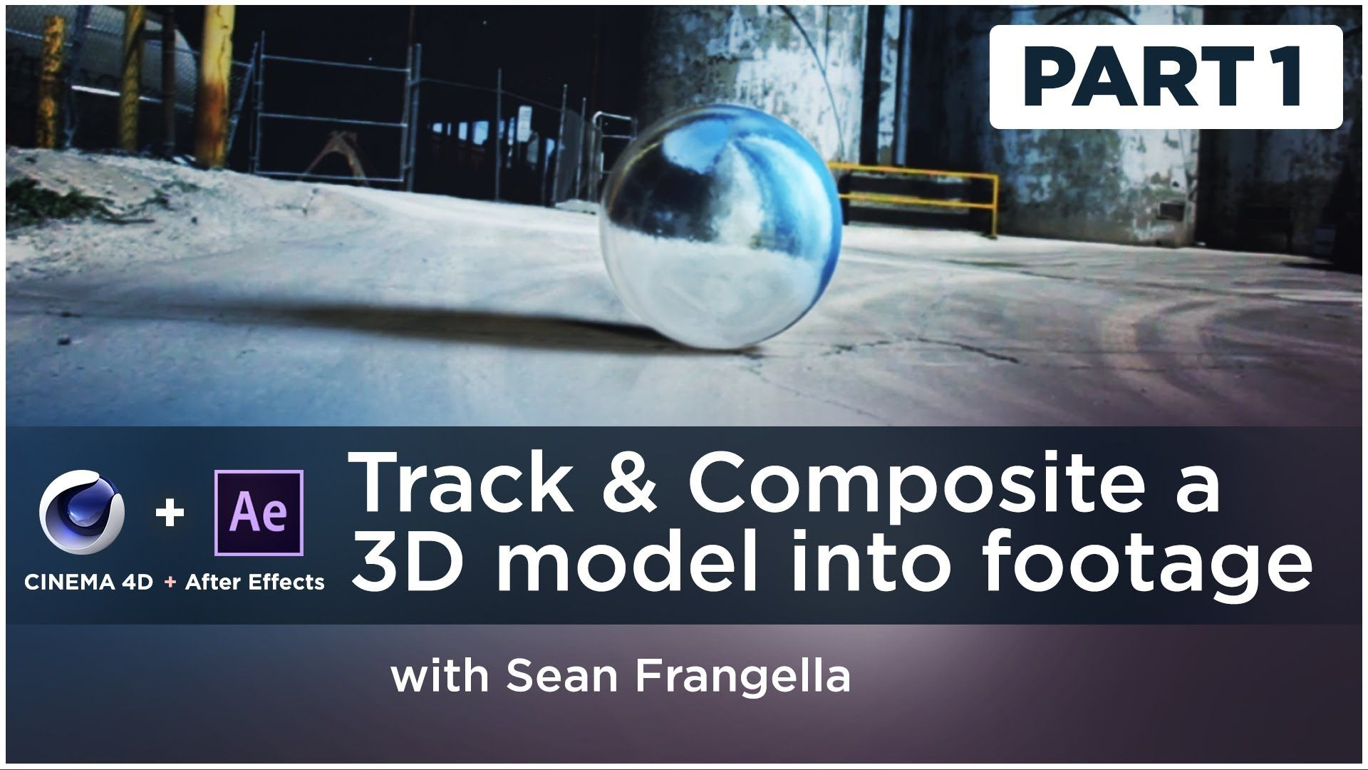 How to track composite a 3d model into live action footage using part 2 of a 2 part series on compositing workflow techniques and tips learn how to motion track a moving camera shot send tracking information to cinema baditri Choice Image