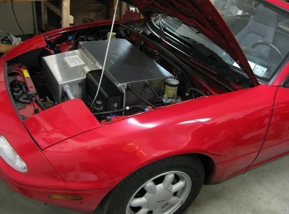 Electric Car Parts Conversions Ev Miata Project Pictures Dc Motor