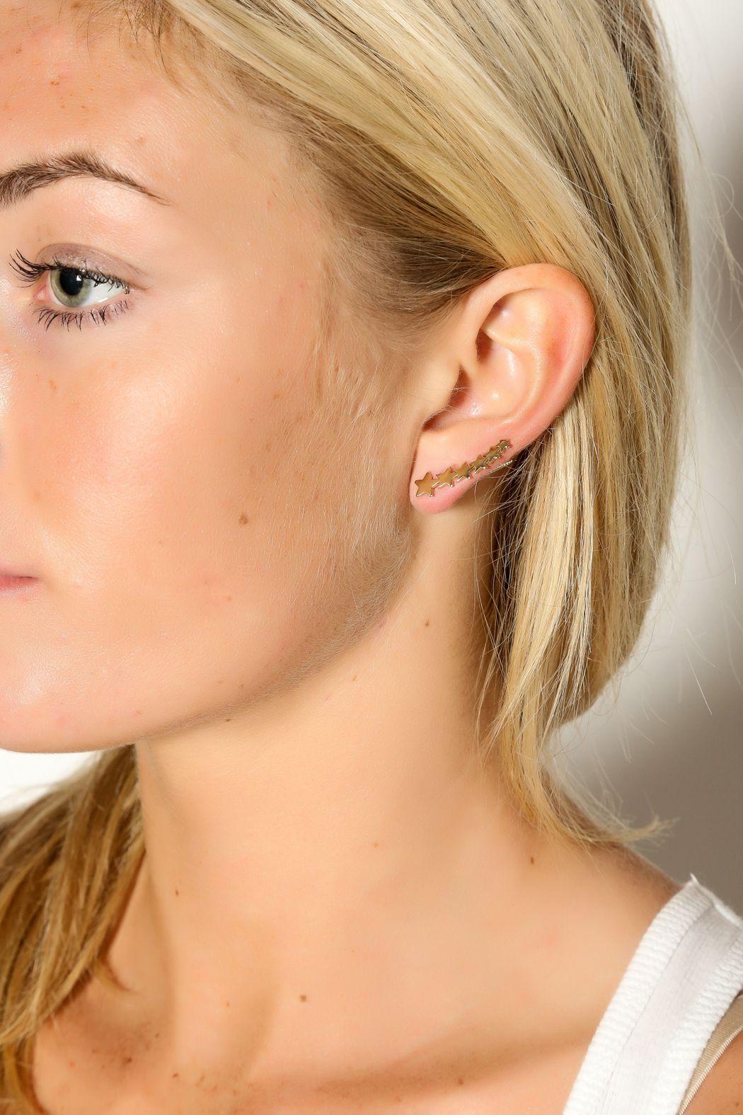 Starburst Ear Climber - main