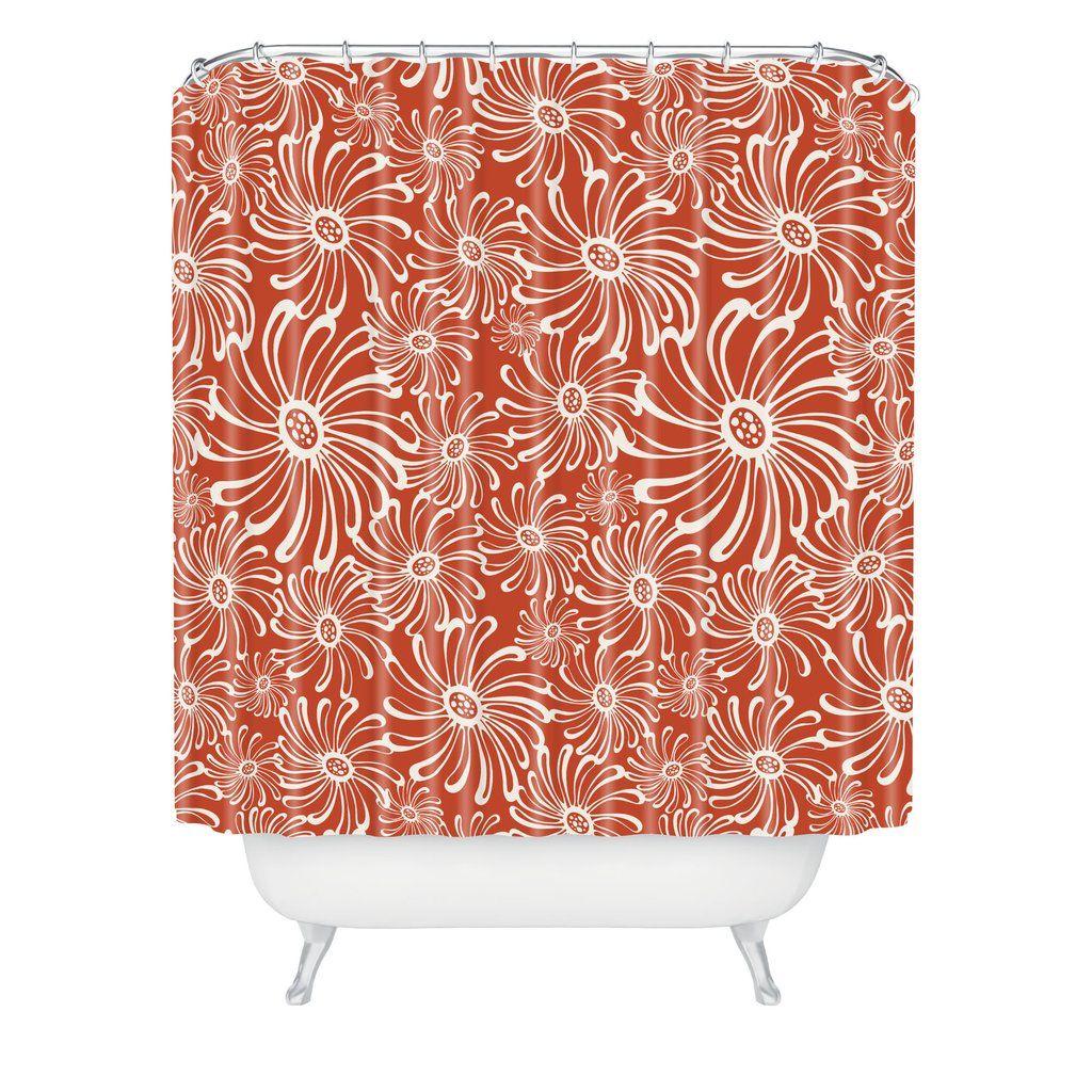 Bursting Bloom Spice Shower Curtain Heather Dutton
