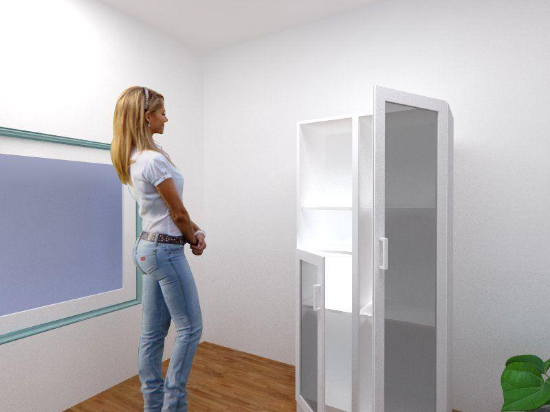 Despensero 2 puertas vidrio esmerilado manijas met licas for Manijas para puertas de vidrio