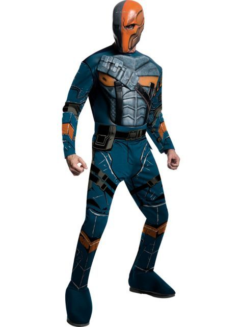 Adult Deathstroke Costume Deluxe Arkham City Party City Deathstroke Costume Superhero Halloween Costumes Mens Halloween Costumes