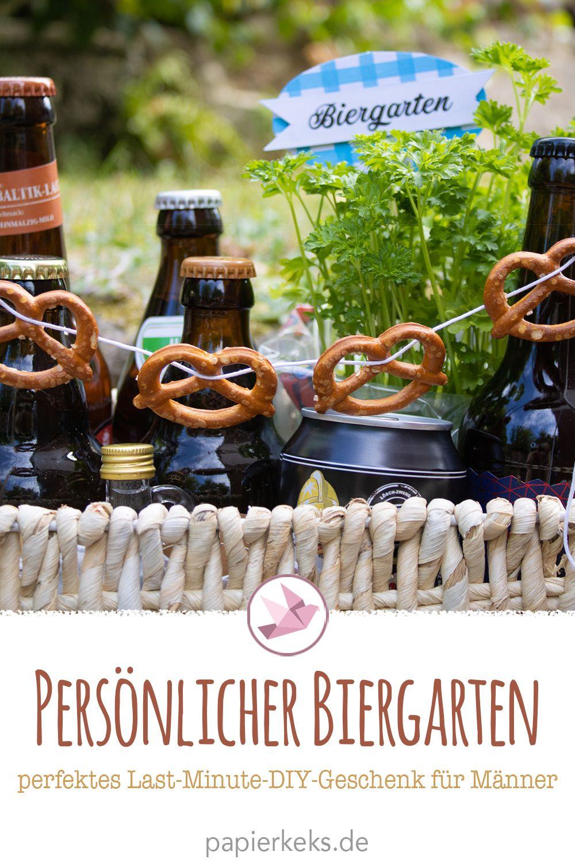 Biergarten für Männer - perfektes Last-Minute-Geschenk