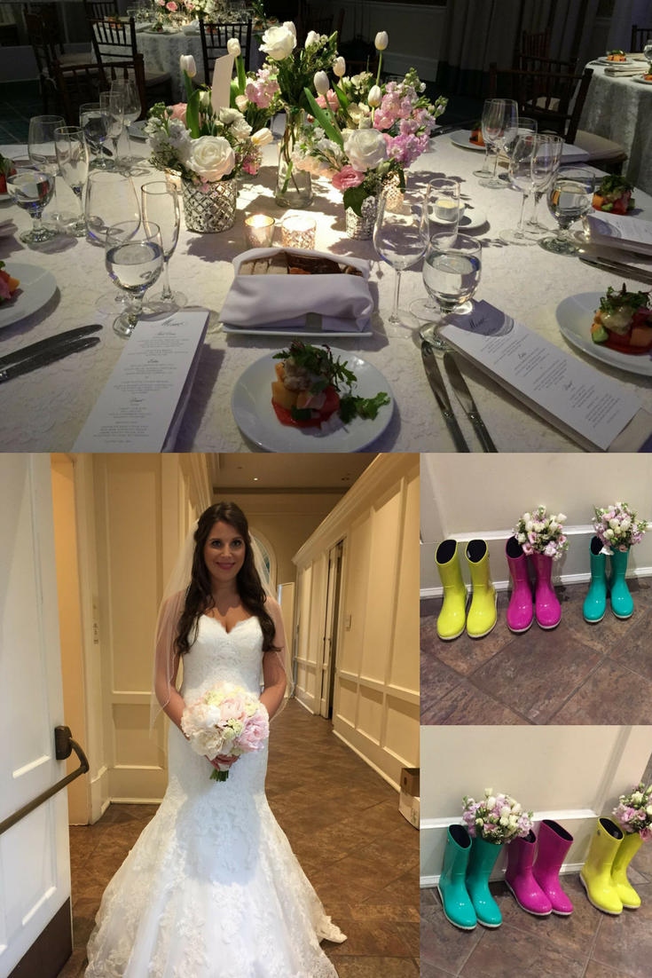 The bride didn\'t let the weather get her down at this beautiful ...