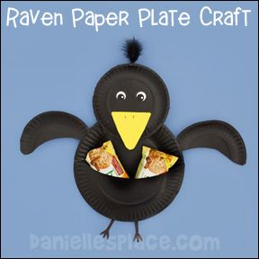 Raven Paper Plate Craft for Elijah Sunday School Lesson from .daniellesplace.com & Raven Paper Plate Craft for Elijah Sunday School Lesson from www ...