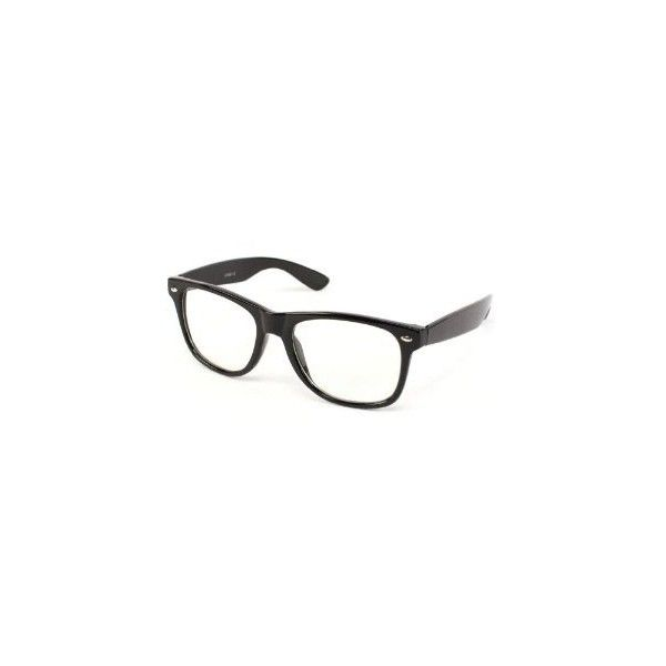 Clear Lens Geek/Nerd Retro Wayfarer Glasses,Black Frame