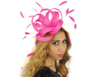 Fuchsia Fireball Fascinator Hat for Weddings 929c300ad41