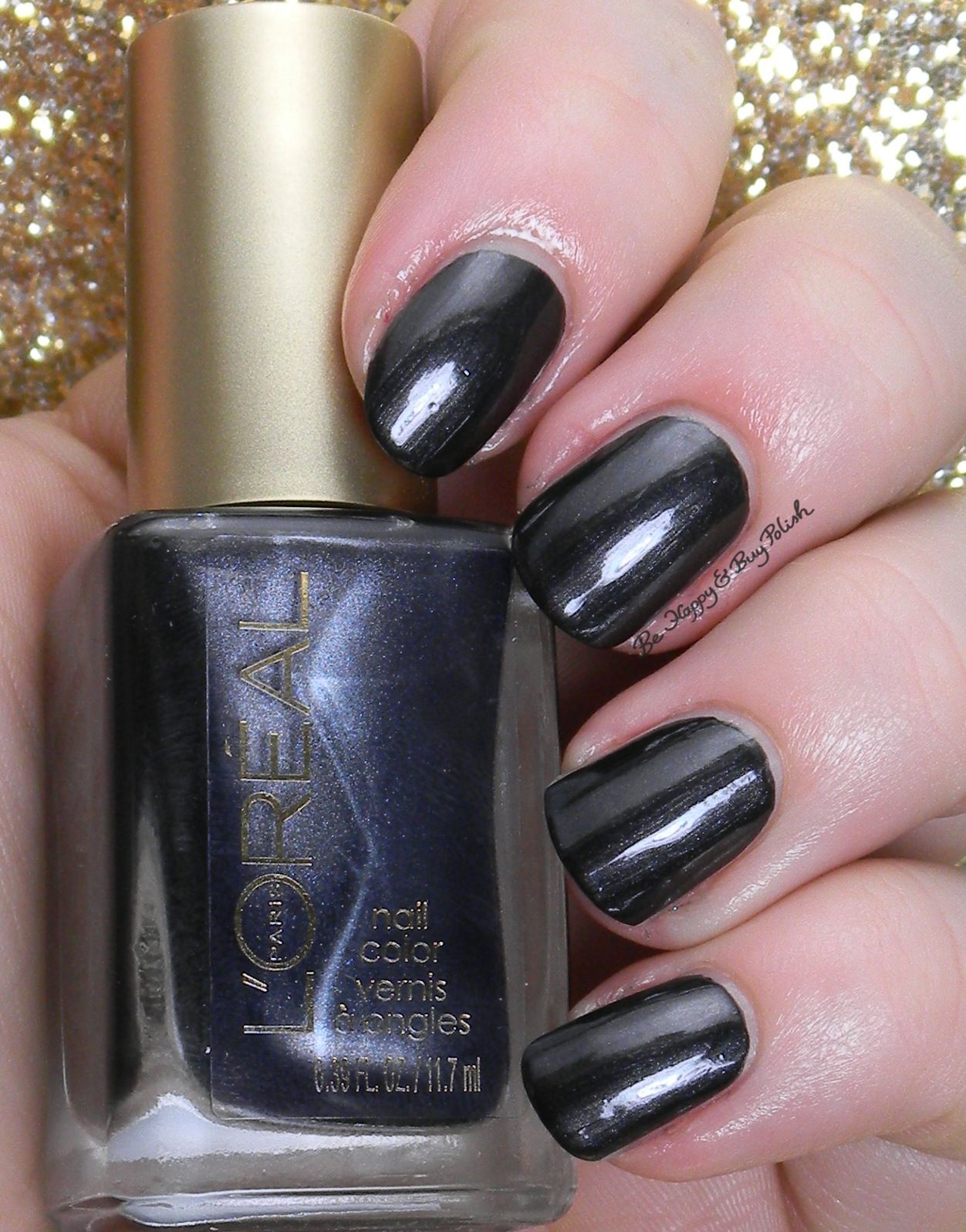 L'Oreal Power Potion | Be Happy And Buy Polish http://behappyandbuypolish.com/2014/12/19/loreal-dark-sides-of-grey-nail-polishes-swatches-review/