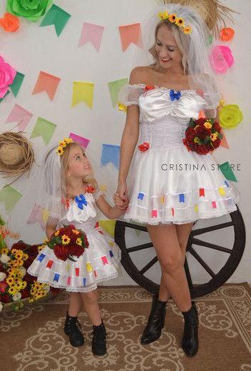 São João Idéias e dicas para os vestidos e trajes típicos para a criançada  dançar quadrilha b594409d368