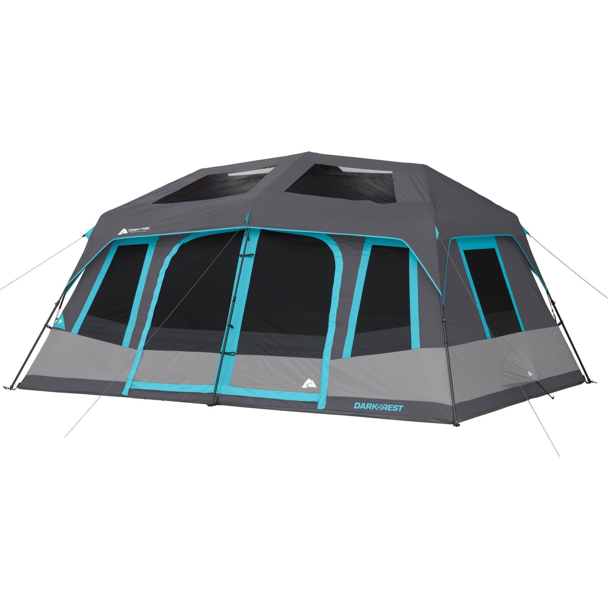 Ozark Trail 10 Person Dark Rest Instant Cabin Tent Walmart Com Cabin Tent 10 Person Tent Tent