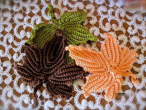 Crochet Maple Leaf Pattern By Bikkis Hive Crochet Pinterest
