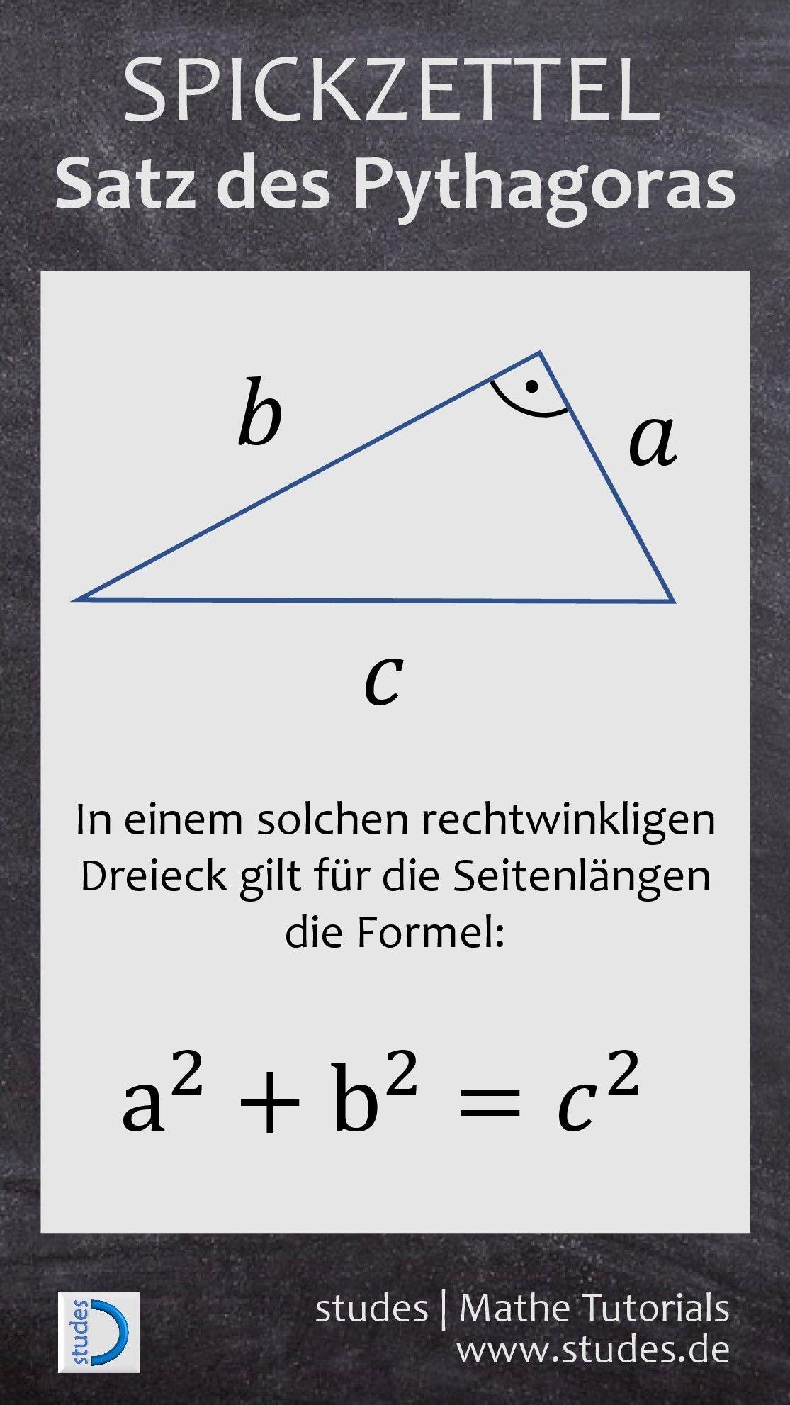 spickzettel studes wiskunde mathe tricks mathe abitur und satz des pythagoras. Black Bedroom Furniture Sets. Home Design Ideas