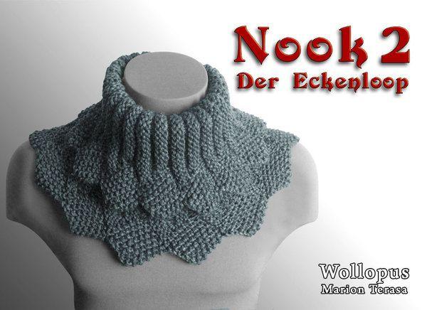 Nook 2 - Der Eckenloop   Stricken - Knitting   Pinterest   Stricken ...