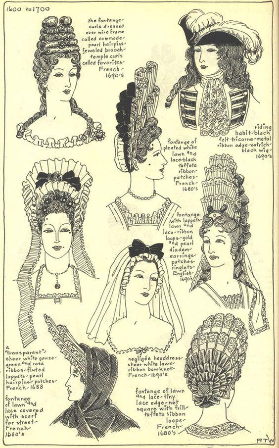 Coiffure Et Coiffe 17e Histoire De La Mode Costume Historique Costumes D Epoque